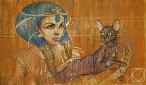 женщина и кошка египет
