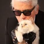 Лагерфельд с кошкой Шупетт