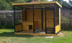 Уличный вольер-клетка для собаки