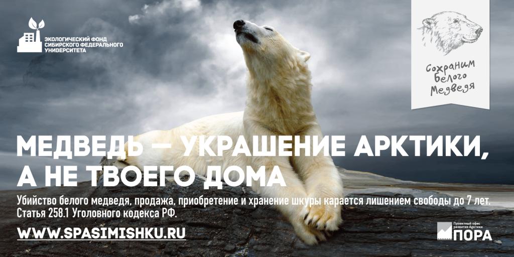 """кампания """"Сохраним белого медведя""""»"""