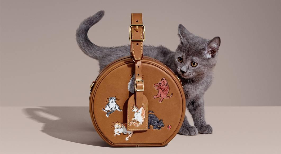 сумка луи витон с котиками