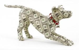 собака из денег